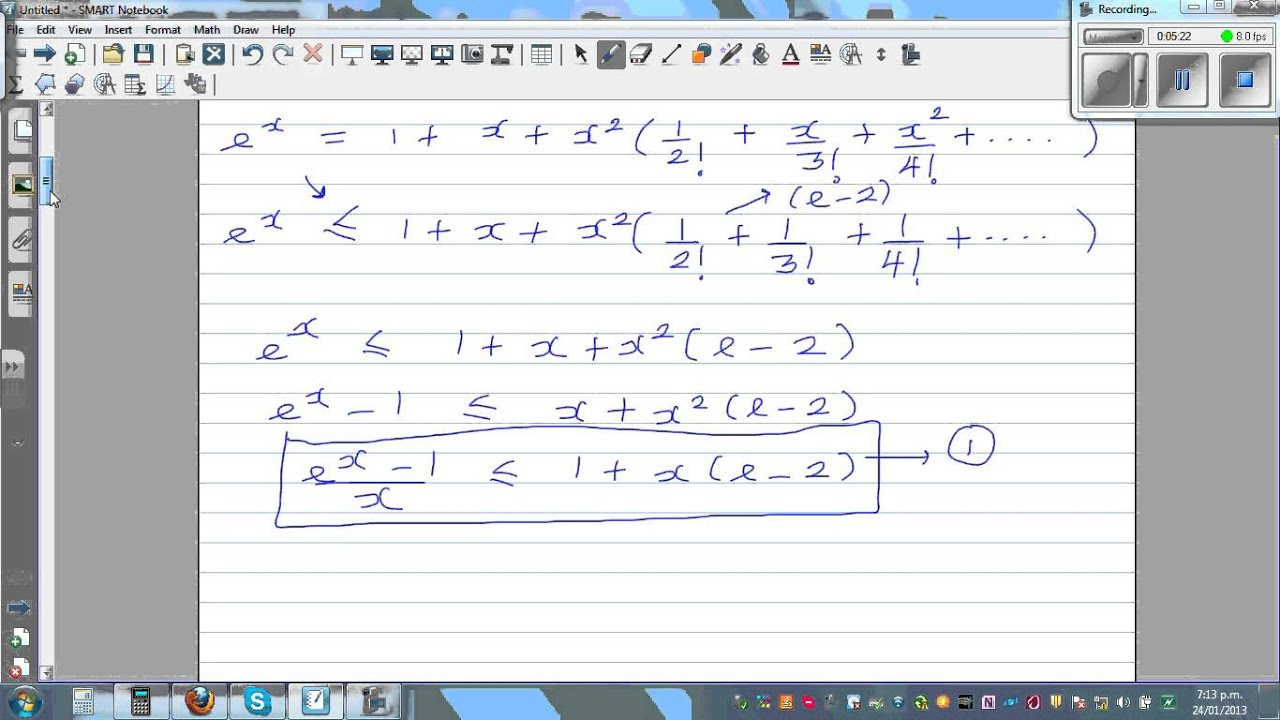 The Proof Of E X 1 X 1 When X Approaches 0 And D Dx