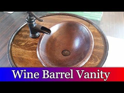 Wine Barrel Vanity project