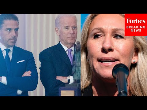 "Marjorie Taylor Greene Calls For Biden Impeachment, Slams Hunter Biden At ""America First"""
