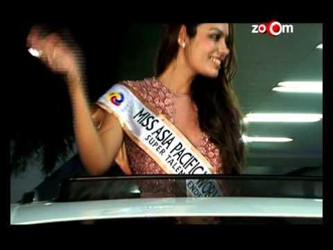 Miss Asia Pacific World 2013 Srishti Rana returns to India