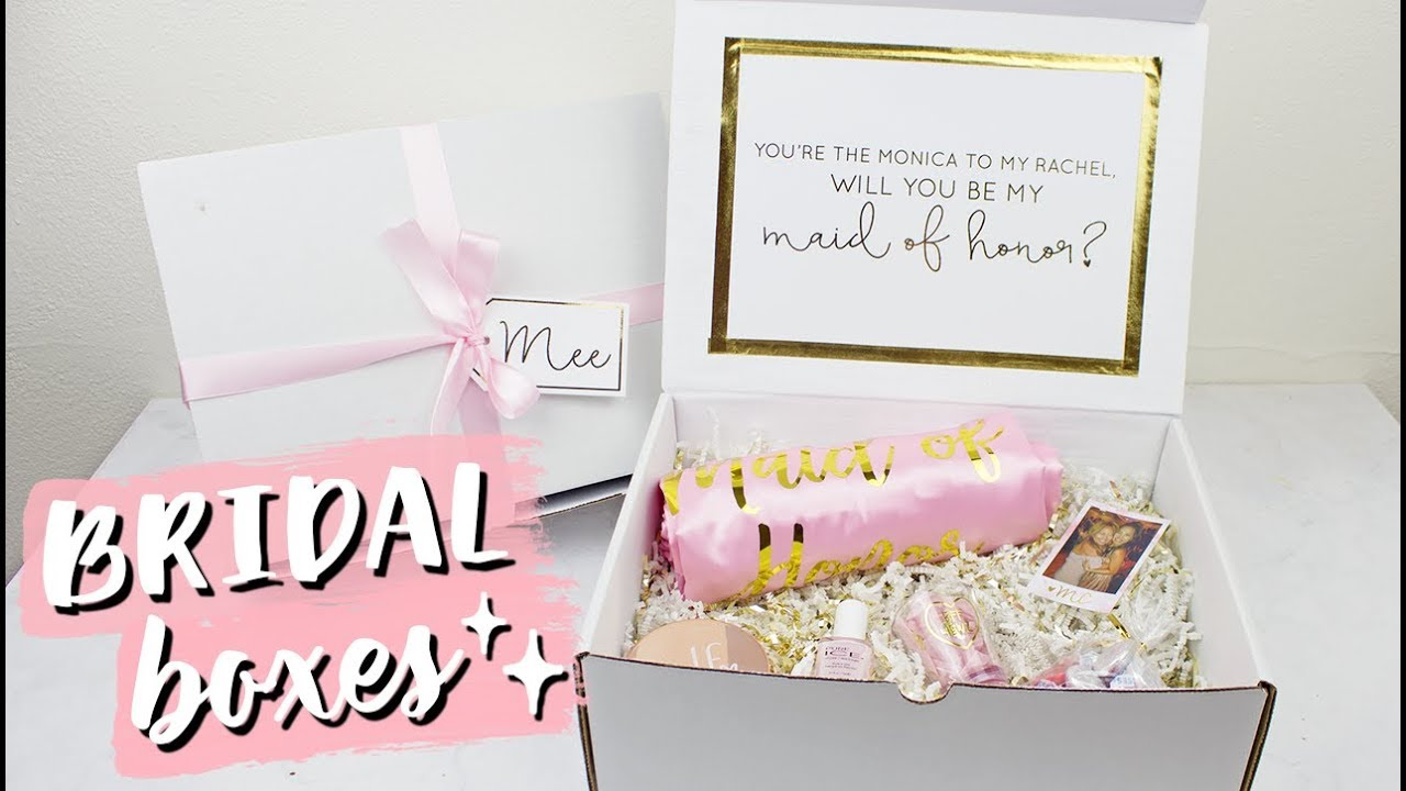 will you be my bridesmaid diy bridal boxes gold foil youtube. Black Bedroom Furniture Sets. Home Design Ideas