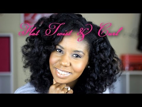 Flat Twist and Curl - Hairstyle - YouTube
