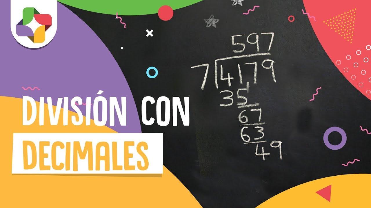 División con decimales en dividendo y divisor - Educatina - YouTube