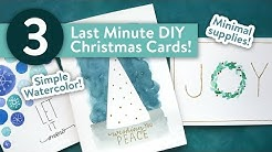 Easy DIY Christmas Cards! LAST MINUTE CARD IDEAS!