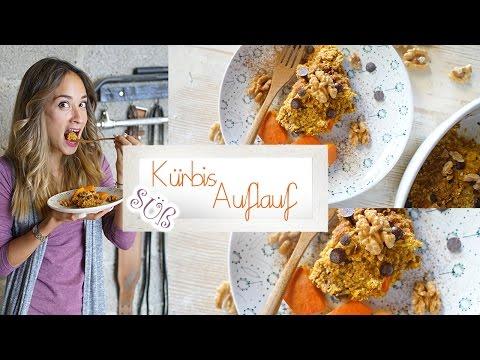 Kürbis Auflauf - vegane Baked Oats - Süßes herbstliches Rezept - Einfach und schnell