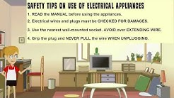 Safety Tips - Use of Electrical Appliances