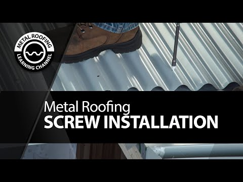 Screwing Metal Roofing. Correct & Incorrect Way Of Fastening A Metal Roof + Pre-Drill + Screw Guns
