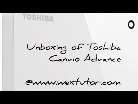 Unboxing and reviews for portable Toshiba HDTC910AK3AA Canvio Advance 1TB External hard-drive