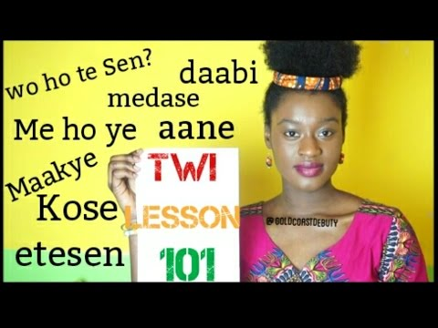 Learning Twi (Language) Lesson THREE (2)  | #Ghana #Akan