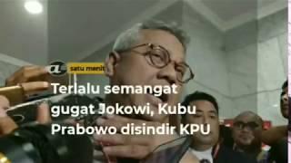Terlalu semangat gugat Jokowi, kubu Prabowo disindir KPU
