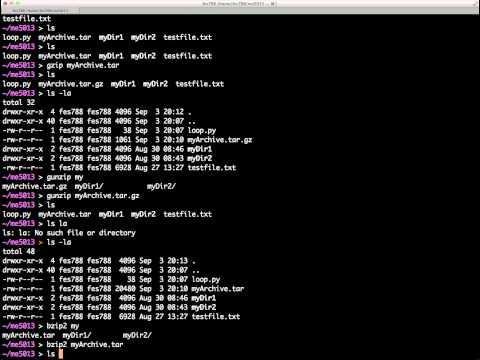 Basic UNIX Commands - Archiving