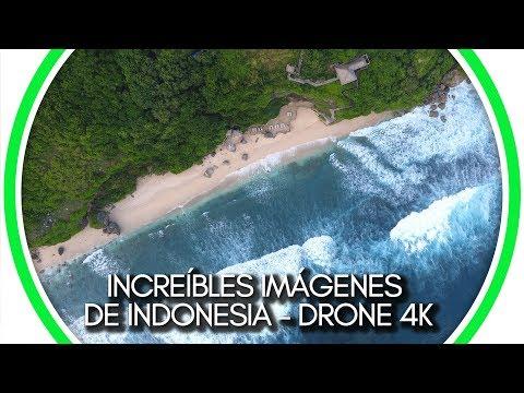 Increíbles imágenes de Indonesia Drone 4K