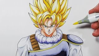 How To Draw Goku Super Saiyan | Yardrat Clothes  - Step By Step Tutorial