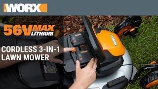 WORX 56V MaxLithium Cordless 3-in-1 Lawn Mower