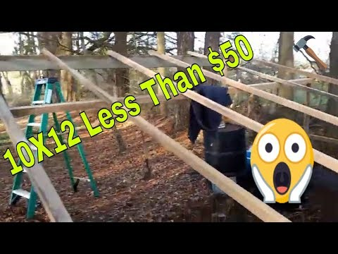 how to Build a 10×12 shed cheap almost free