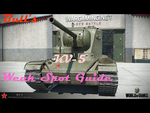 Bull's Weak Spot Guide to The KV-5 (World Of Tanks Console)