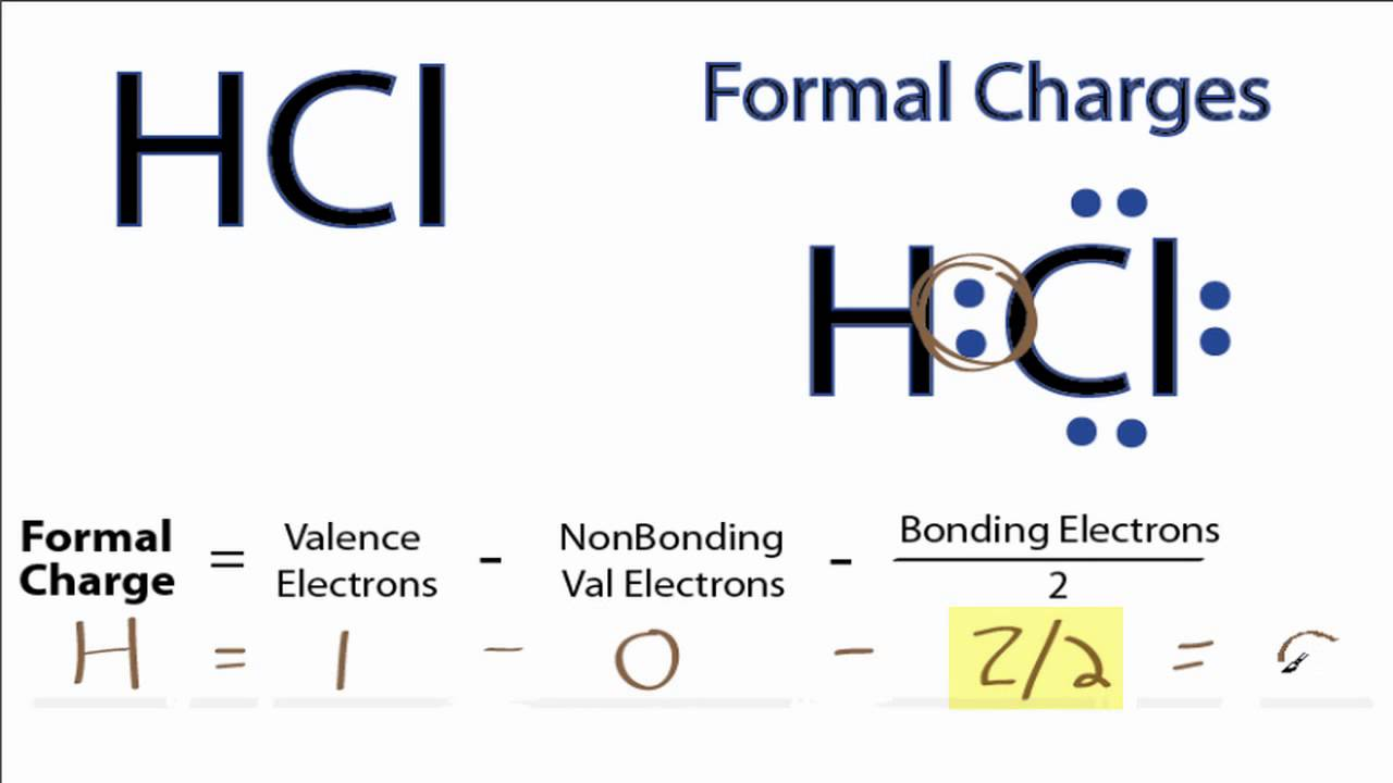 small resolution of calculating hcl formal charges formal charges for hcl youtube dot cross diagram of hcl calculating hcl