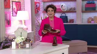 Kork-Ease Stacked Heel Ankle Bootie - Casper on QVC