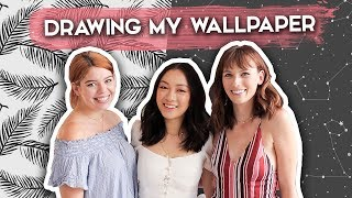 Drawing Wallpaper for my Apartment! ft. TheSorryGirls | DIY Seamless Pattern Designs