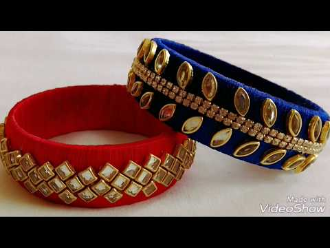 How to make two different types of silk thread bangles