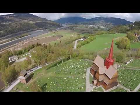 DJI Phantom 2 Vision Plus In Ringebu Stave Church Norway!