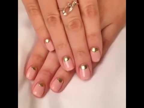 Фото ногти лунка цветная