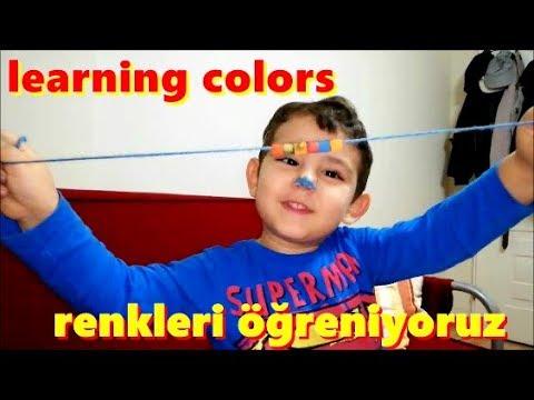 Makarna Boyama Etkinlik Renkleri Ingilizce Turkce Ogreniyoruz