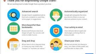 Google Stars preview novo Favoritos do Google