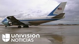 El presidente Trump y la primera dama salen de la Base Aérea Andrews camino a Florida.