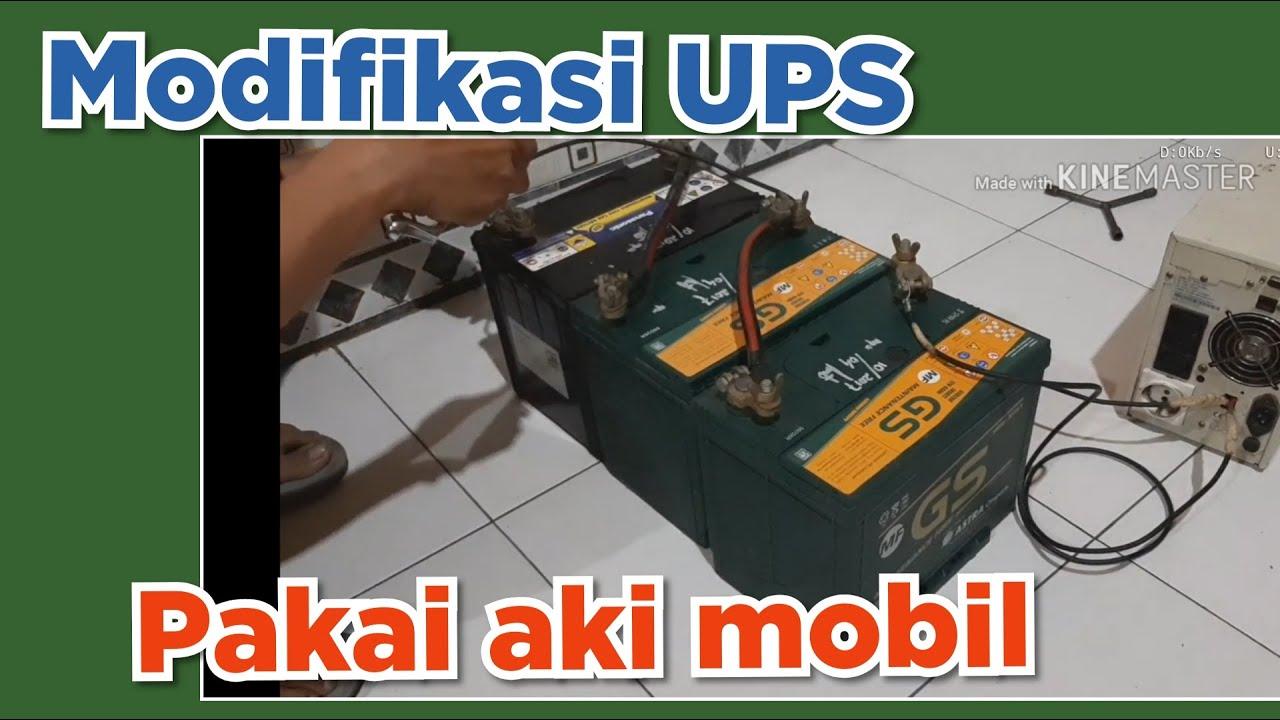 Cara modifikasi UPS dengan 3 aki mobil...testing 3 unit PS3 + TV - YouTube
