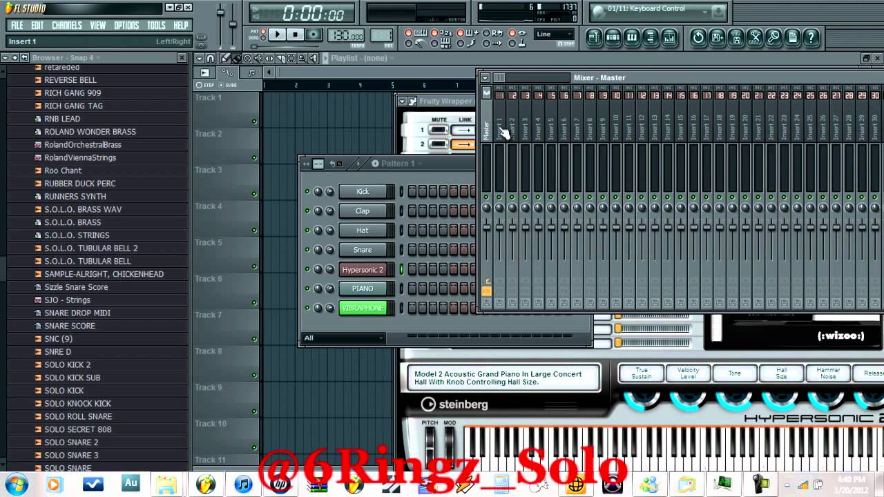how to send tracks to mixer in fl studio