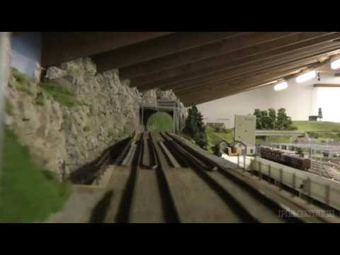 Model Railway Cab Ride in First Person View
