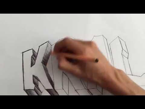 En Basitinden Graffiti Yapımı  - Şekilli Yazı Yazmak