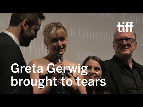 Greta Gerwig Overcome by Emotion  TIFF 2017