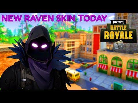 "Fortnite:Battle Royale ""Raven Skin"" Release Today?! (Fortnite ""Raven Skin"" Gameplay) 450 Wins"