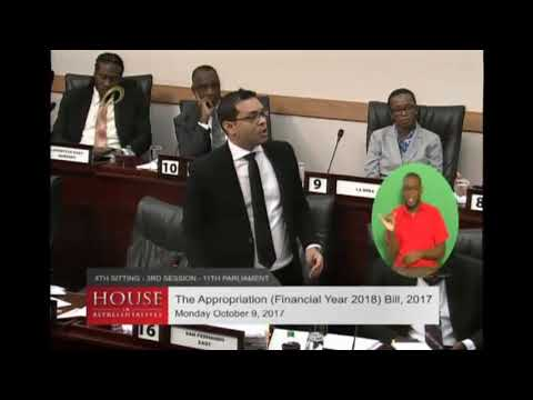Hon  Housing and Urban Development Minister Randall Mitchell MP Budget Contribution