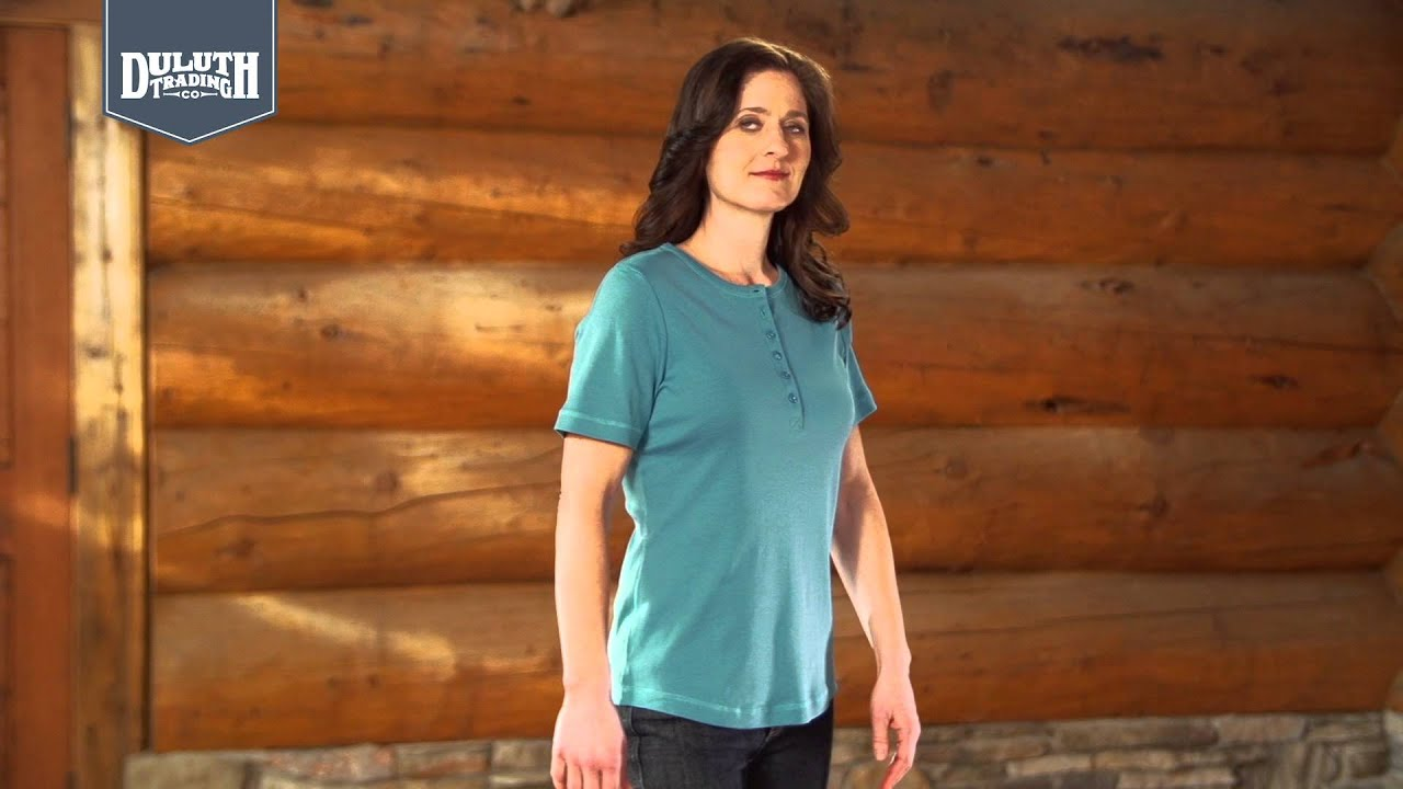 Duluth trading women 39 s longtail t shirts youtube for Duluth t shirt commercial