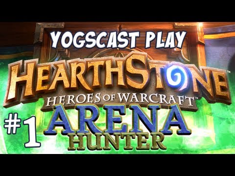 Warcraft - Hearthstone Arena Hunter Part 1 - Draft and First Game