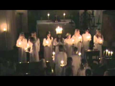 Santa Lucia song. Saint Lucy 2010. Swedish church in Buenos Aires