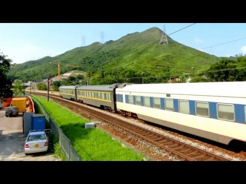 {ICTT} SS8 0163 hauling Z809 Guangzhou Through Train passing Kau Lung Hang