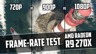 GTA 5 | 720p vs. 900p vs. 1080p(VSR) | Sapphire Dual-X R9 270X | Frame-Rate Test