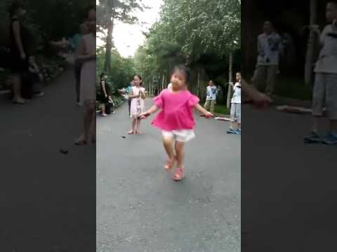 Little Girl ...Talented.... Skipping Rope