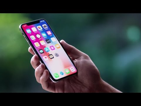iphone X ad  with Samsung music