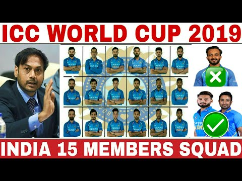 Pick the world cup scores 2019 india team players list 15