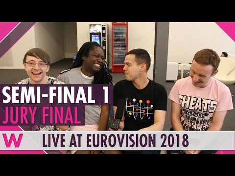eurovision-2018:-semi-final-1-jury-show-(reaction)