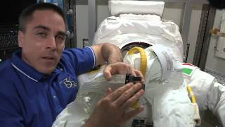 Astronaut Chris Cassidy Shows Off Faulty Spacesuit (Part 2)
