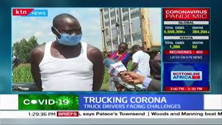 Truck driver stuck in traffic towards Malaba decries the mistreatment of drivers