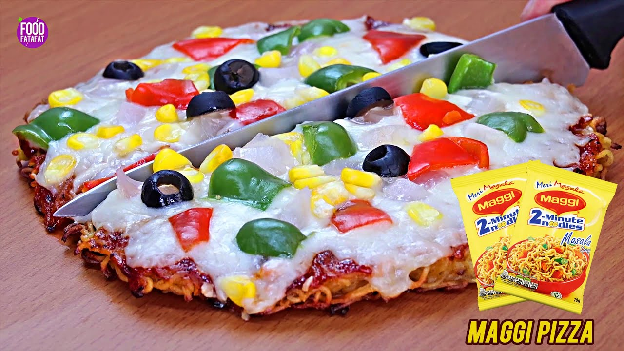 Maggi Pizza Recipe | How To Make Veg Maggi Pizza Without Oven