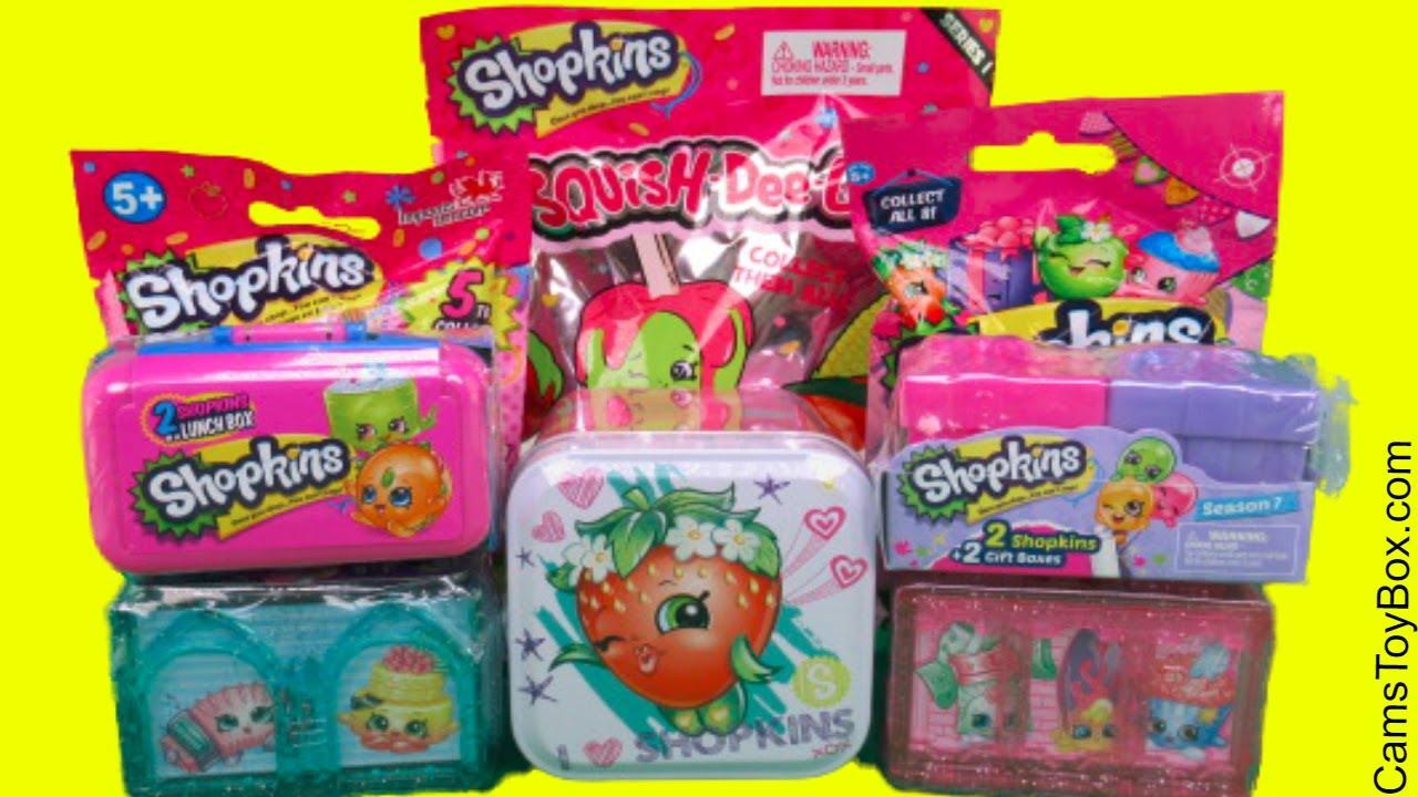 Squish Delish Full Box : Surprise Toys Blind Bags Opening Shopkins Squish Dee Lish Light Ups Season 8 Asia Plush Hangers ...