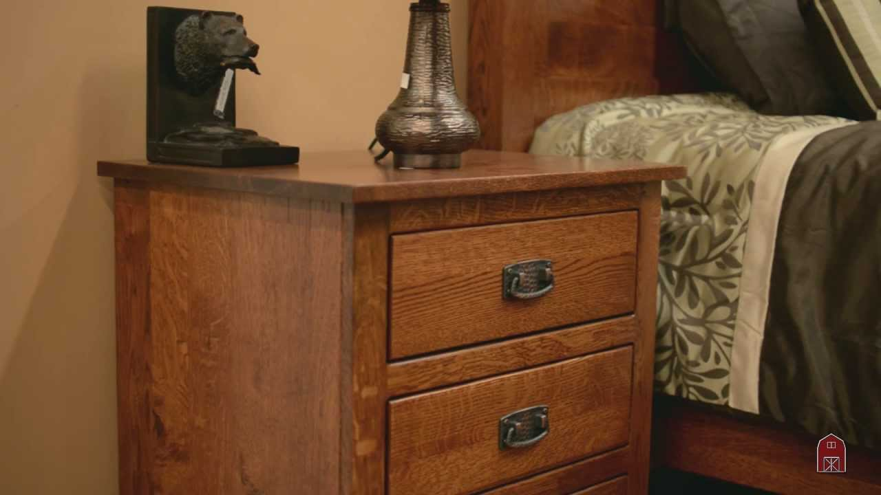 Barn Furniture   Amish Mavis Mission Bedroom Set   YouTube